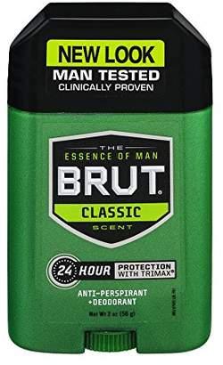 Brut Mens 24 hr Anti-Perspirant/Deodorant Solid Classic Scent 2oz-4 Pack