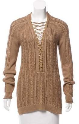 e6e6c3082c Kobi Halperin Lace-Up Long Sleeve Sweater w  Tags