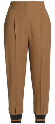 Brunello Cucinelli Cropped Pleated Wool-Blend Tapered Pants
