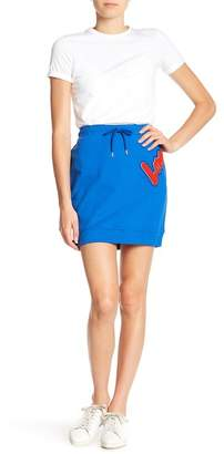 Love Moschino Gonna Tubino Patch Skirt