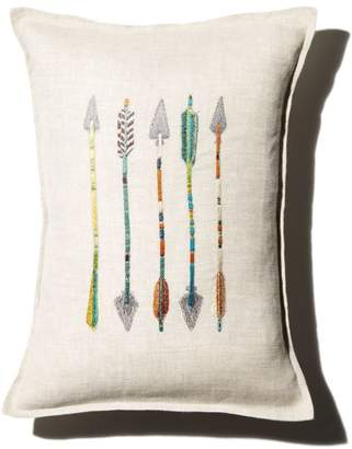 """Coral & Tusk Arrow Embroidered Decorative Pillow, 12"""" x 16"""""""