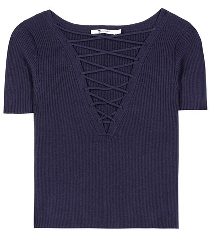 Alexander Wang T by Alexander Wang Cotton and cashmere top