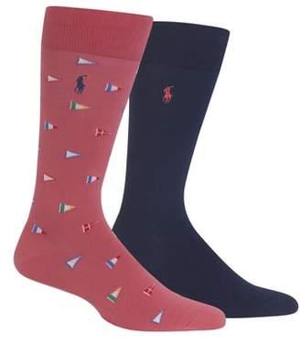 Polo Ralph Lauren Ralph Lauren 2-Pack Flags Socks