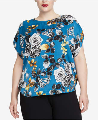 Rachel Roy Trendy Plus Size Printed Blouse