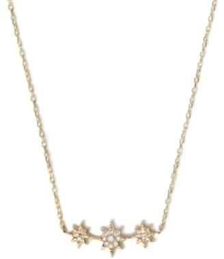 Anzie Aztec North Star Curve Diamond Pave Necklace