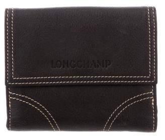 Longchamp Leather Snap Wallet