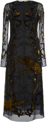 Versace Velvet Devore Dress