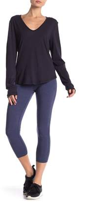 James Perse Contrast Yoga Pants