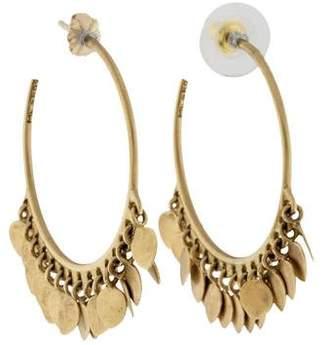 Me & Ro Me&Ro 10K Lotus Petal Hoop Earrings