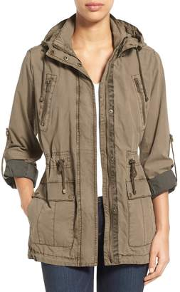 Levi's Parachute Hooded Cotton Utility Jacket