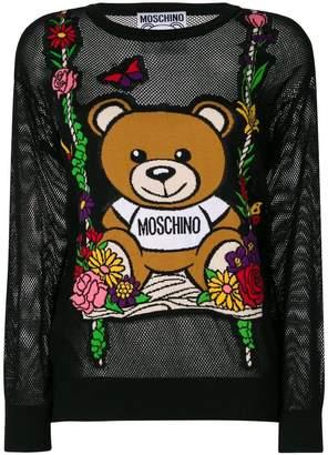 Moschino mesh Teddy swing sweater