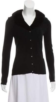 Blumarine Knit Collared Cardigan