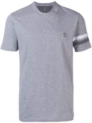 Brunello Cucinelli T-shirt with satin straps