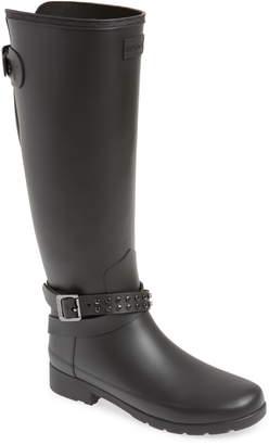 Hunter Refined Adjustable Back Knee High Waterproof Rain Boot