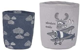 Harriet Bee Round Fabric 2 Piece Basket Set