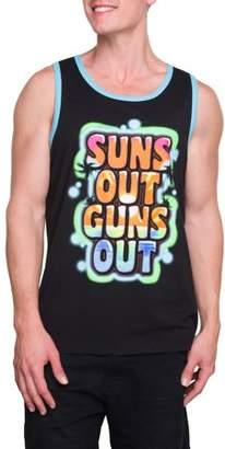 Pop Culture Big Men's Suns Out Buns Out Graphic Ringer Tank Top, 2XL