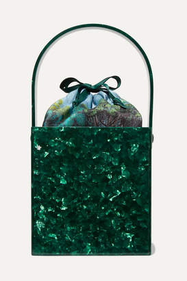 Montunas - Stelis Acetate And Silk-satin Tote - Green