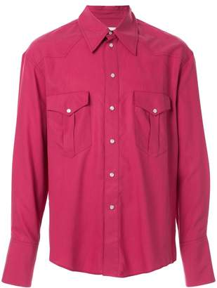Ernest W. Baker pointed collar western shirt