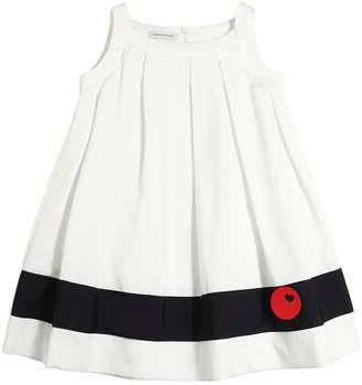 Cotton Piqué Dress W/ Contrasting Stripe