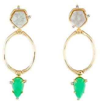Alexis Bittar Druzy Stone Post Link Earrings