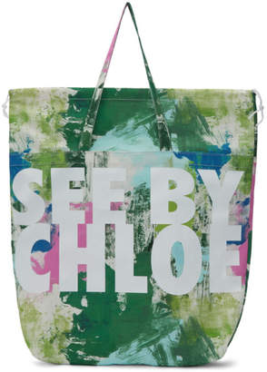 See by Chloe (シー バイ クロエ) - See By Chloe See by Chloe マルチカラー ロゴ ペイントトート