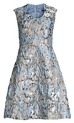 Aidan Mattox Women's Metallic Jacquard Fit-&-Flare Dress - Size 0