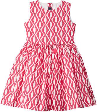 Oscar de la Renta Batik Party Dress