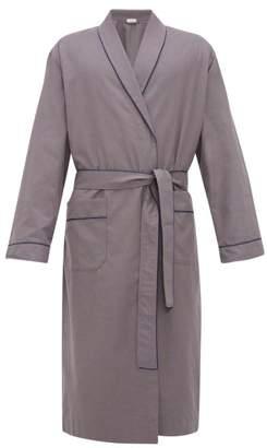 Zimmerli Light Magic Cotton Robe - Mens - Grey
