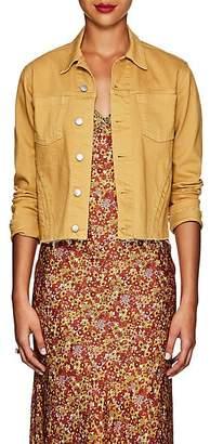 L'Agence Women's Janelle Denim Slim Jacket - Mustard