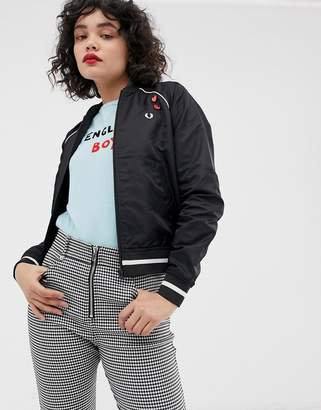 Fred Perry x Amy Winehouse foundation embroidered bomber jacket