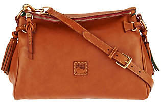 As Is Dooney & Bourke Florentine Leather Medium Zip Crossbody $239 thestylecure.com