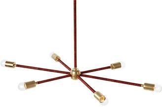 The Light Factory Orbit Chandelier - Brass/Sienna