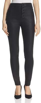 J Brand Natasha Button Sky High Coated Skinny Jeans in Fearless