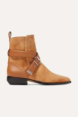 Chloé Rylee Suede And Leather Ankle Boots - Tan