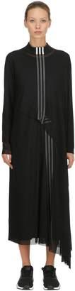 Y-3 3 Stripes Mesh & Jersey Dress