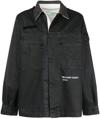 Off-White Military shirt jacket