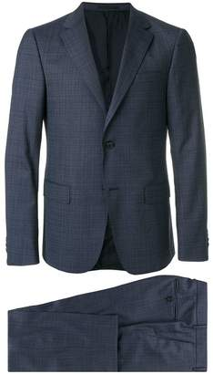Ermenegildo Zegna micro-checked slim-fit suit