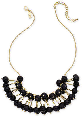 "INC International Concepts I.n.c. Gold-Tone Stick & Ball Statement Necklace, 19"" + 3"" extender"