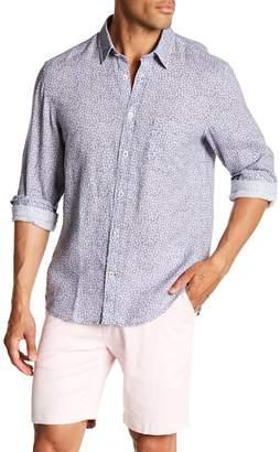 Benson Floral Print Linen Modern Fit Shirt