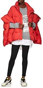 Comme des Garcons Junya Watanabe Women's Zip-Sleeve Down Puffer Jacket - Red