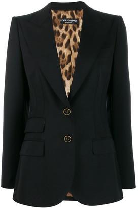 Dolce & Gabbana peaked lapel blazer jacket