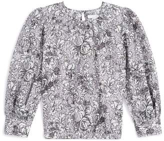 Burberry Cotton-Silk Floral Blouse