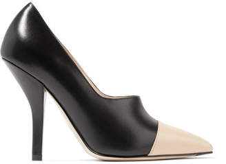 Fendi Two-tone Leather Pumps - Black