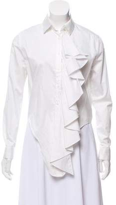 Alexis Ruffled Tie-Detail Blouse