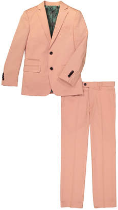 Isaac Mizrahi Solid Suit Jacket And Trouser Set