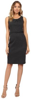 Christin Michaels Merla Sleeveless Pleated Ponte Dress $69 thestylecure.com