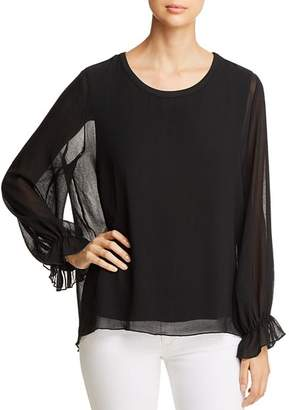 Kim & Cami Sheer Overlay Top