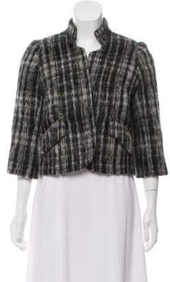 Smythe Plaid Wool-Blend Jacket