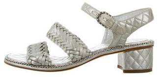 Chanel Chain-Link Slingback Sandals