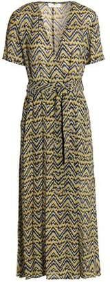 A.L.C. Printed Silk-Crepe Midi Dress